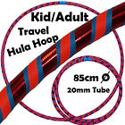 PRO Hula Hoops UltraGrip/Glitter 3COLOUR Weighted TRAVEL Kids Hoola Hoop - 85cm