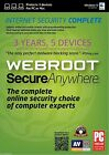 Webroot SecureAnywhere AntiVirus or Security Complete - 2 or 3 Years, 5 Devices