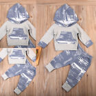Cute Newborn Toddler Baby Boy Girls Hoodie Tops+Pants 2pcs Outfits Set Costume