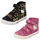 Girls Hello Kitty Hi Top Canvas Trainer - Norland