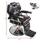All Purpose Hydraulic Barber Chair Reclining Black Chair Beauty Salon Spa Modern