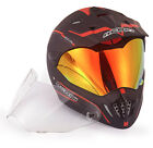 NENKI MX Dual Sport Helmet With Extra Spare Anti fog Clear Visor,DOT approval