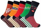 Coca Cola - 5 Pairs Unisex Mens Ladies Striped Novelty Branded Logo Cotton Socks £11.98  on eBay