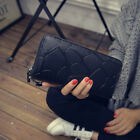 Women Lady PU Leather Clutch Coin Phone Bag Key Case Purse Wallet Card Holder