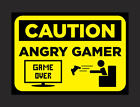 Gamers Man Cave Sign Zombie Angry Fun Signs A5 Predrilled 2mm  Free Fixings P&P
