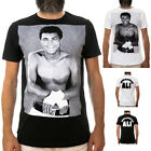 MUHAMMAD ALI SMILES / Men, Black, White, T-Shirt