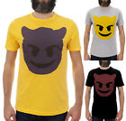EMOJI DEVIL / Mens, Black, Yellow, Grey T-Shirt