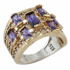 Turkish Handmade Hurrem Sultan Jewelry 925 Sterling Silver Amethyst Lady's Ring