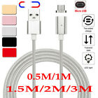 0.5M-3M Magnetic LED Micro USB Fast Charging Charge Cable fo