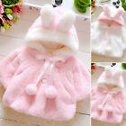 Newborn Baby Toddler Kids Girls Cute Winter Hooded Coat Outerwear Jacket Clothes