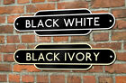 Railway Totem Sign House Number Train Station Personalised Metal Sign Quality