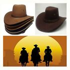 Unisex Retro Western Cowboy Cowgirl Cattleman Sun Hat Wide Brim Fancy Dress Cap
