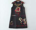Occident autumn fashion manual bead Modern Vintage printed jacquard dress SMLXL