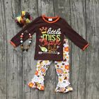 Girls Thanksgiving Little Miss Thankful Outfit with Accessories 2T 3T 4T 5 6 7
