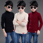 Fashion Boys Highneck Sweater Jumper Casual Children Pullover Sweater 5-14 Years