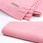 New 7 Colors 100% Organic Cotton Knitted Baby Blanket for Boys Girls Kids