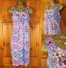 NEW GORGEOUS EXCHAINSTORE JEWEL SEQUIN SUMMER HOLIDAY BEACH DRESS UK SIZE 16