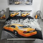 Duvet Cover With Pillow Case Yellow Cab Single Double King Bedding All Sizes
