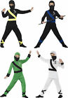 Boys Japanese Samurai Warrior Fancy Dress Party Outfit Ninja Assassin Costume