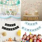 Glitter Happy Birthday Bunting Banner Gold Letters Hanging G