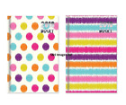 2018 Pocket Small Size Diary Week To View Strips Spots Patterned Design Hardback