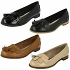 Ladies Clarks Loafer Flats With Tassel Trim Angelica Slice