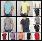 New Hollister by Abercrombie Men Crew & V Neck Tee Shirt Seagull Plaid Must have