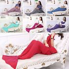 Super Soft Hand Crocheted Mermaid Tail Blanket Sofa Blankets ADULT 180*90CM US image