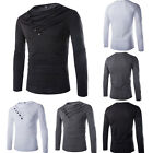 Fashion Men's Slim Fit Long Sleeve Blouse T-shirt Casual Muscle Tops Pullover