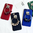 Slim Frosted Matte Rubberized Luxury pendant Case Girls'hard Back Phone Cover #A