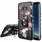 Luxury Stand Holder Case Cover for Apple iPhone 6 6S Plus 7 7 Plus Flower Black