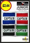 Precision Football Captains Armband JUNIOR/KIDS/CHILDS/BOYS Black/Green/Red/Blue