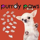Soft Nail Caps For Dog Claws ( CLEAR ) * Purrdy Paws * 7 Sizes X-Small - Jumbo