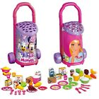 Kids Disney Shopping Trolley Cart Basket Role Play Grocery & Tea Set Food Drink