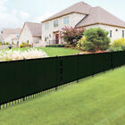 50' Green Fence Windscreen Privacy Screen Shade Cover Fabric Mesh Garden Tarp