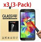 3-Pack Tempered Glass Screen Protector for Samsung Galaxy S3 S4 S5 Note 2 3 4 5