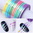 Nail Striping Tape Glitter Adhesive Stickers 1-3mm Nail Art Decoration
