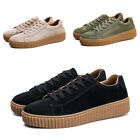 Fashion Skateboarding Trainers Lace Up Suede Sneakers Casual Mens Sport Shoes