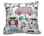 HIPPY VAN SCOOTER RETRO 70'S GIRLS BEACH SCATTER CUSHION COVER THROW PILLOW SALE
