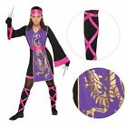 Kids Girls Sassy Ninja Assassin Fancy Dress Costume Samurai Japanese Warrior