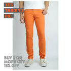 Mens Jeans Slim Fit Straight Skinny Fit Denim Trousers Casual Pants 15+ Colors