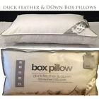 DELUXE DUCK FEATHER AND DOWN PILLOWS 100% COTTON COVER BOX PILLOW PACK