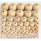 660/240/120pcs Round Pearl Wood Beads Natural Color Beads 6--40mm Wood Beads