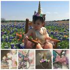 Unicorn Headband Handmade Baby Party Horn Gold Glittery Beautiful
