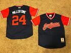"""Cleveland Indians Andrew 'MILLER TIME"""" Miller Players Weekend Nickname Jersey"""