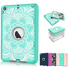 Hybrid Heavy Duty Rubber Shockproof Hard Case Cover for iPad 2 3 4 Air Mini Pro
