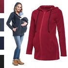 Happy Mama. Women's Maternity Fleece Hoodie Top Carrier Removable Insert. 498p