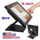 "LOT NEW 15"" Touch Screen LED TouchScreen Monitor Retail Kiosk Restaurant Bar TO"