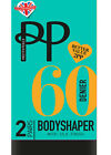 PRETTY POLLY BODYSHAPER 60 DENIER BLACK TIGHTS SILK FINISH 2, 4, 6 Pairs S/M M/L