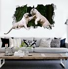 3D Tiger Fight  3231 Wall Murals Wall Stickers Decal Breakthrough AJ WALLPAPER A